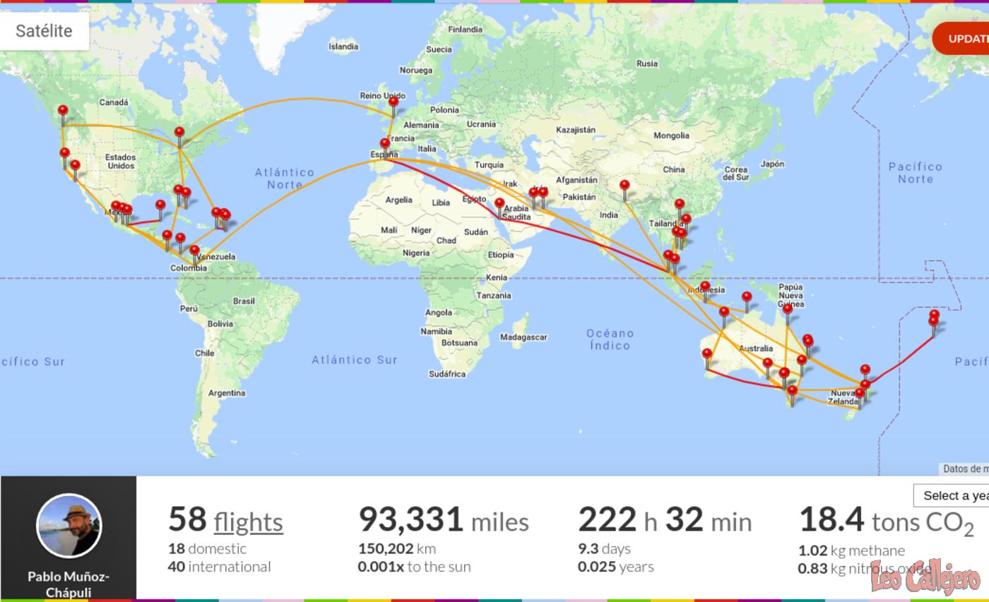 Cuatro años viajando